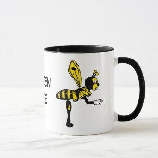 Taza de cerámica de la abeja reina