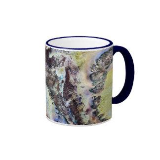 Taza de cerámica de la lona de la acuarela