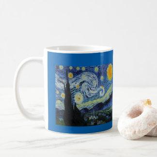 """Taza de cerámica de la """"noche estrellada"""""""