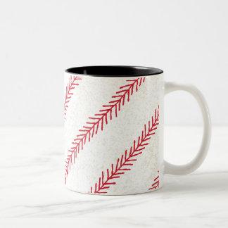 Taza de cerámica de la puntada 11oz del béisbol