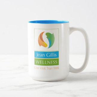 Taza de cerámica de la salud de JG