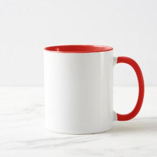 Taza de cerámica de Molon Labe 11oz, manija roja
