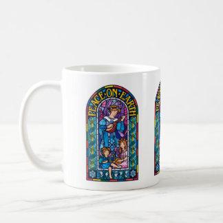 Taza de cerámica de Navidad del Pre-Raphaelite de