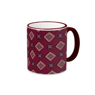 Taza de cerámica del lazo del diamante del vintage