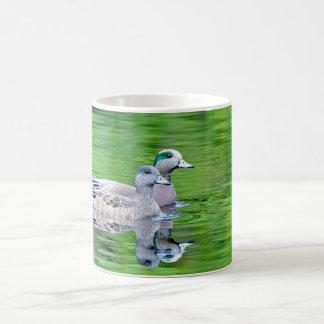 Taza de cerámica del Widgeon americano