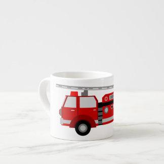 Taza de cerámica tamaño pequeño del Firetruck de