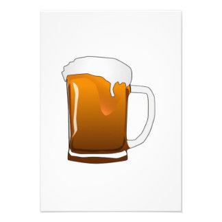 Taza de cerveza anuncio