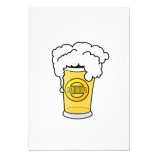 Taza de cerveza comunicados personales