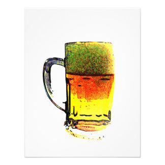 Taza de cerveza comunicados personalizados
