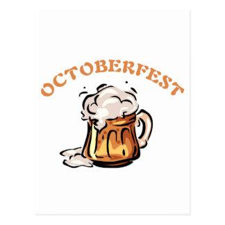 Taza de cerveza de Oktoberfest Octoberfest Postal