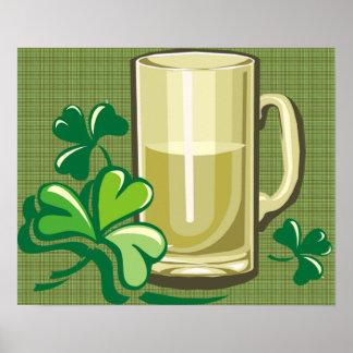 Taza de cerveza inglesa irlandesa posters