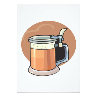 Taza de cerveza invitación 12,7 x 17,8 cm