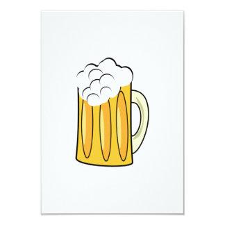 Taza de cerveza invitación