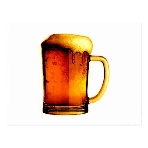 Taza de cerveza tarjeta postal