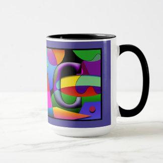 Taza de Cofee del monograma con las iniciales J y