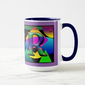 Taza de Cofee del monograma de D&R