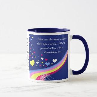 Taza de Coffe del verso de la biblia