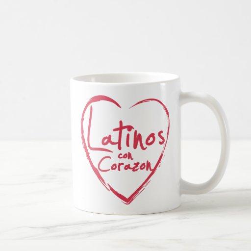 Taza de Corazon de la estafa de los Latinos