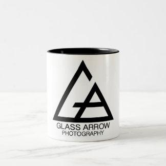 Taza de cristal de la fotografía de la flecha