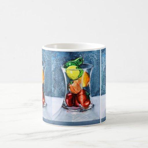Taza de cristal de la fruta