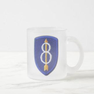Taza De Cristal Esmerilado 8vo La identificación de la infantería de los Inf