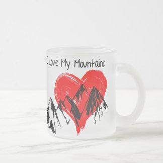 Taza De Cristal Esmerilado ¡Amo mis montañas!