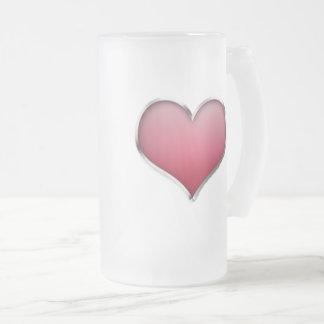 Taza De Cristal Esmerilado amor
