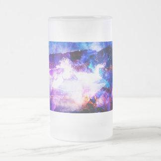 Taza De Cristal Esmerilado Anuncio Amorem Amisi en alguna parte en el Océano