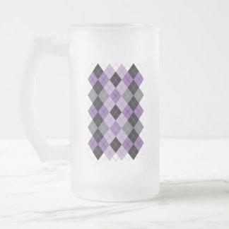 Taza De Cristal Esmerilado Argyle púrpura