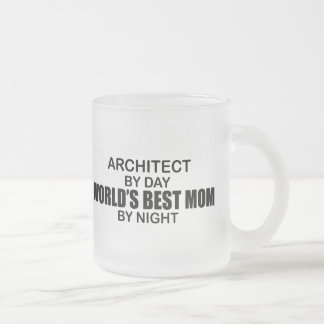 Taza De Cristal Esmerilado Arquitecto - la mejor mamá del mundo