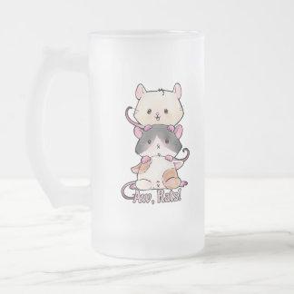 Taza De Cristal Esmerilado ¡Aw, ratas!