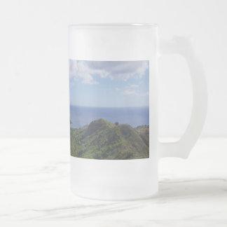 Taza De Cristal Esmerilado Bahía de Guam Seti