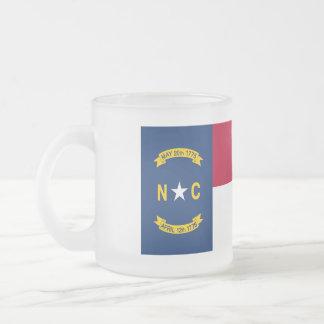 Taza De Cristal Esmerilado Bandera de Carolina del Norte