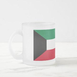 Taza De Cristal Esmerilado Bandera de Kuwait