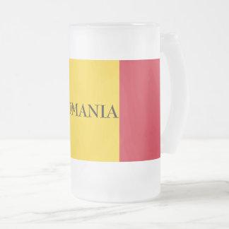 Taza De Cristal Esmerilado Bandera de Rumania