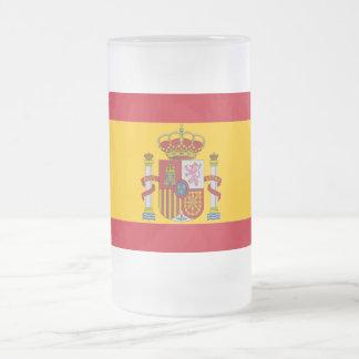 Taza De Cristal Esmerilado Bandera española