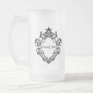 Taza De Cristal Esmerilado ¡Bébame!