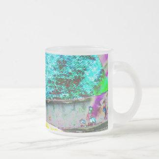 Taza De Cristal Esmerilado Búho de observación hermoso