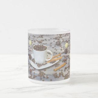 Taza De Cristal Esmerilado Café y especias