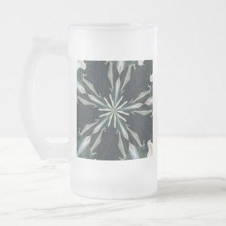 Taza De Cristal Esmerilado Caleidoscopio de la estrella de la cala