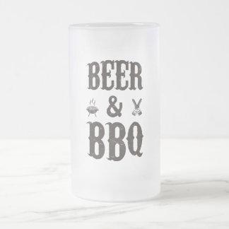 Taza De Cristal Esmerilado Cerveza y Bbq