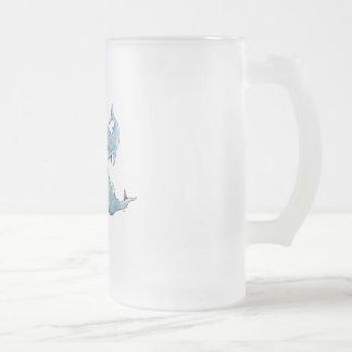 Taza De Cristal Esmerilado Charla de la ballena