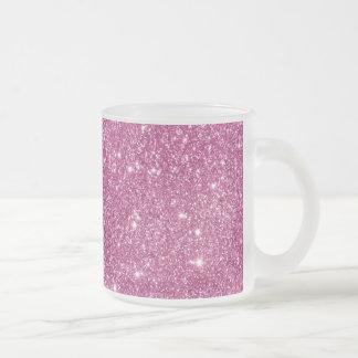 Taza De Cristal Esmerilado Chispas del brillo de las rosas fuertes