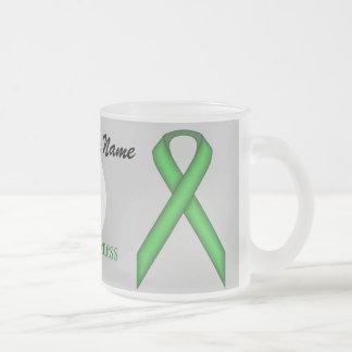 Taza De Cristal Esmerilado Cinta estándar verde Tmpl de Kenneth Yoncich