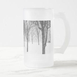 Taza De Cristal Esmerilado como echo a un lado con los árboles