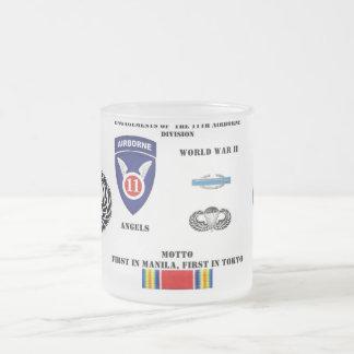 Taza De Cristal Esmerilado Compromisos de la 11ma división aerotransportada