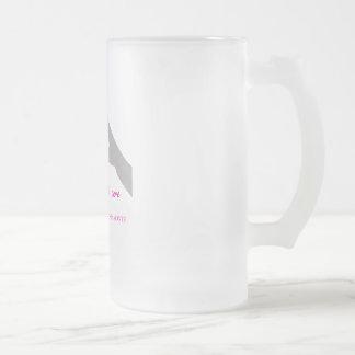 Taza De Cristal Esmerilado Dé la fabricación de la muestra del corazón con la
