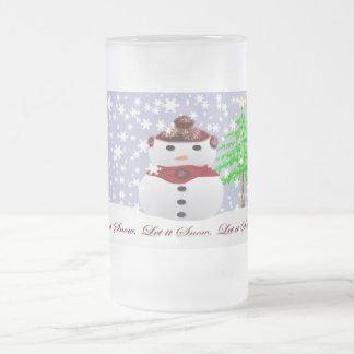 Taza De Cristal Esmerilado Dejáis le nevar