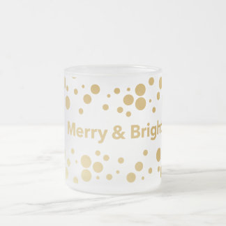 Taza De Cristal Esmerilado Día de fiesta feliz y brillante