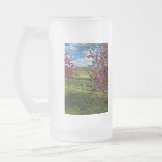 Taza De Cristal Esmerilado Día de primavera en Rivercut